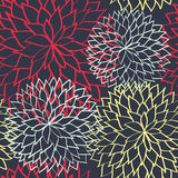 Blüht nahtlose gezeichneten Hintergrund des Musters Hand Stockbild