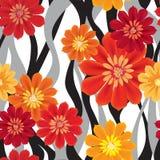 Blüht nahtlosen Hintergrund Mit Ziegeln gedeckte Blumenbeschaffenheit Stockfoto