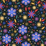Blüht nahtlosen Mustermit blumenhintergrund Stockfotografie
