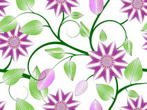 Blüht nahtloses Muster Lizenzfreie Stockfotografie