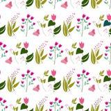 Blüht nahtloses Muster Stockfotos