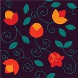 Blüht nahtloses Muster Helle Farbelemente Lizenzfreie Stockfotos