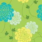 Blüht nahtloses Muster Helle Farbelemente Stockfotografie