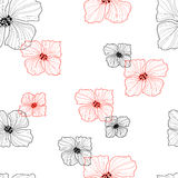 Blüht nahtloses Retro- Muster Lizenzfreies Stockfoto