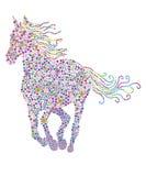 Blüht Pferd Lizenzfreie Stockbilder