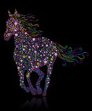 Blüht Pferd Lizenzfreies Stockfoto