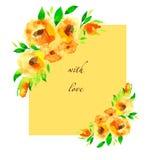 Blüht Postkarte Stockbild