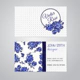 Blüht Visitenkartesatz Stockbild