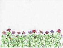 Blüht Wasserfarbe Stockfotos