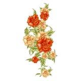 Blüte der gelben Rosen der Weinlese, vertikales bouket Lizenzfreies Stockfoto