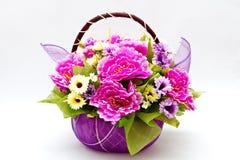 Blüte im Korb Stockfotos