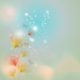 Blüte mit bokeh Effekt Stockfoto