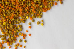 Blütenstaub von verschiedenen Farben schließen oben Hintergrund Stockbild