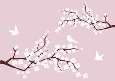 Blütenzweige stock abbildung