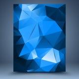 Blå abstrakt mall Royaltyfri Fotografi