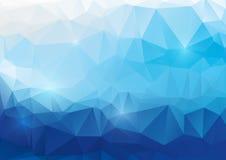 Blå abstrakt polygonal bakgrund Arkivfoto
