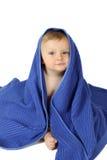 blå handduk Royaltyfri Bild