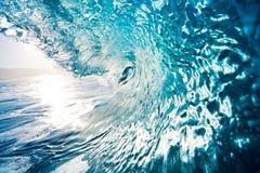 blå havwave Arkivbild