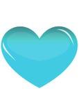 blå hjärta Royaltyfri Foto
