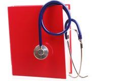 blå isolerad stetoskopwhite Arkivbilder