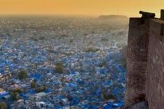 blå stad india jodhpur rajasthan Arkivbild