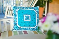 blå textur för patterkuddeshow Royaltyfri Foto