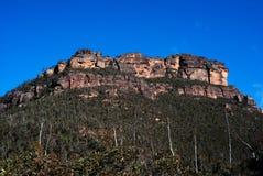 blått berg Royaltyfria Bilder