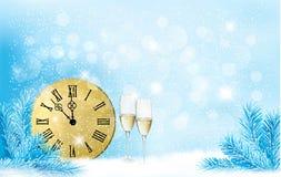 Blå bakgrund för ferie. Lyckligt nytt år!. Arkivbild