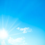 blå bildskyfyrkant Royaltyfri Bild