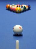 Blå billiardtabell Arkivbilder