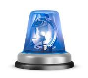 Blå blinkersymbol Arkivbild