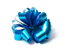 blå bow Royaltyfri Foto