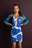 blå brunett Fotografering för Bildbyråer