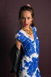 blå brunett Royaltyfri Bild