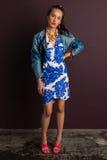 blå brunett Royaltyfri Fotografi