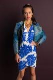 blå brunett Royaltyfri Foto