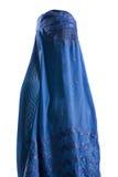 Blå burqa för muselman Royaltyfria Foton
