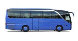 blå buss Fotografering för Bildbyråer