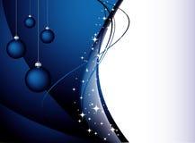 blå cristmasvektor för baackground Arkivfoto