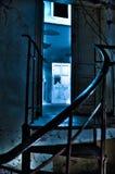 blå dörrlampa Royaltyfri Fotografi