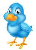 Blå fågel för tecknad film Royaltyfri Bild