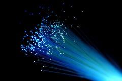 blå fiber Fotografering för Bildbyråer