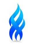 blå flamma Fotografering för Bildbyråer