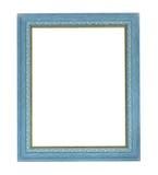 blå färgrambild Fotografering för Bildbyråer