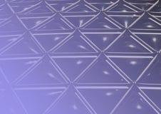 blå geodetisk linje Arkivbilder