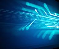 Blå geometrisk bakgrund för formabstrakt begreppteknologi Arkivfoto