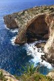 blå grotto malta Royaltyfri Bild