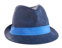 Blå hatt Fotografering för Bildbyråer