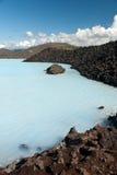 blå iceland lagun Royaltyfria Foton