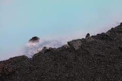 blå iceland lagun Arkivfoton